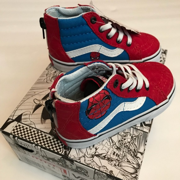 facd7280e0c9d8 NEW-Sk8-Hi Spiderman VANS 6.5